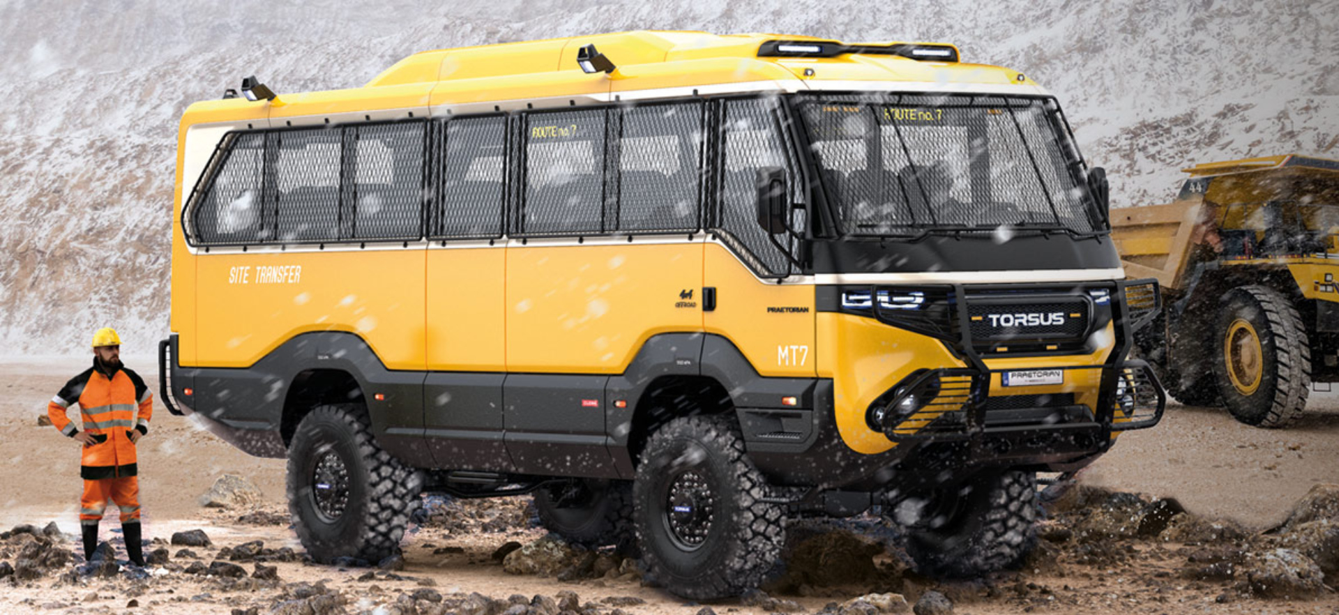 Check out the world's first heavy-duty 4x4 off-road bus that's won a Red Dot Design Award