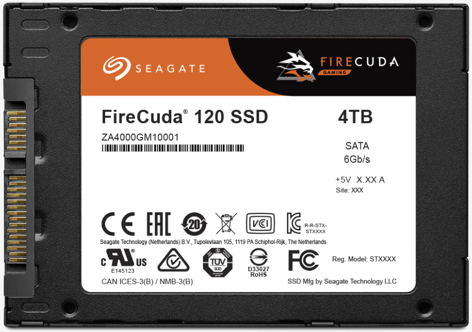 Seagate expands gaming SSD line with 120 series FireCuda