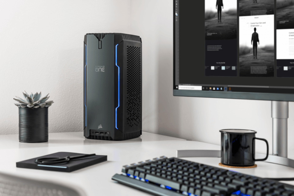 Tiny but powerful: the new Corsair One Mini PC features a Ryzen 3950X and RTX 2080 Ti