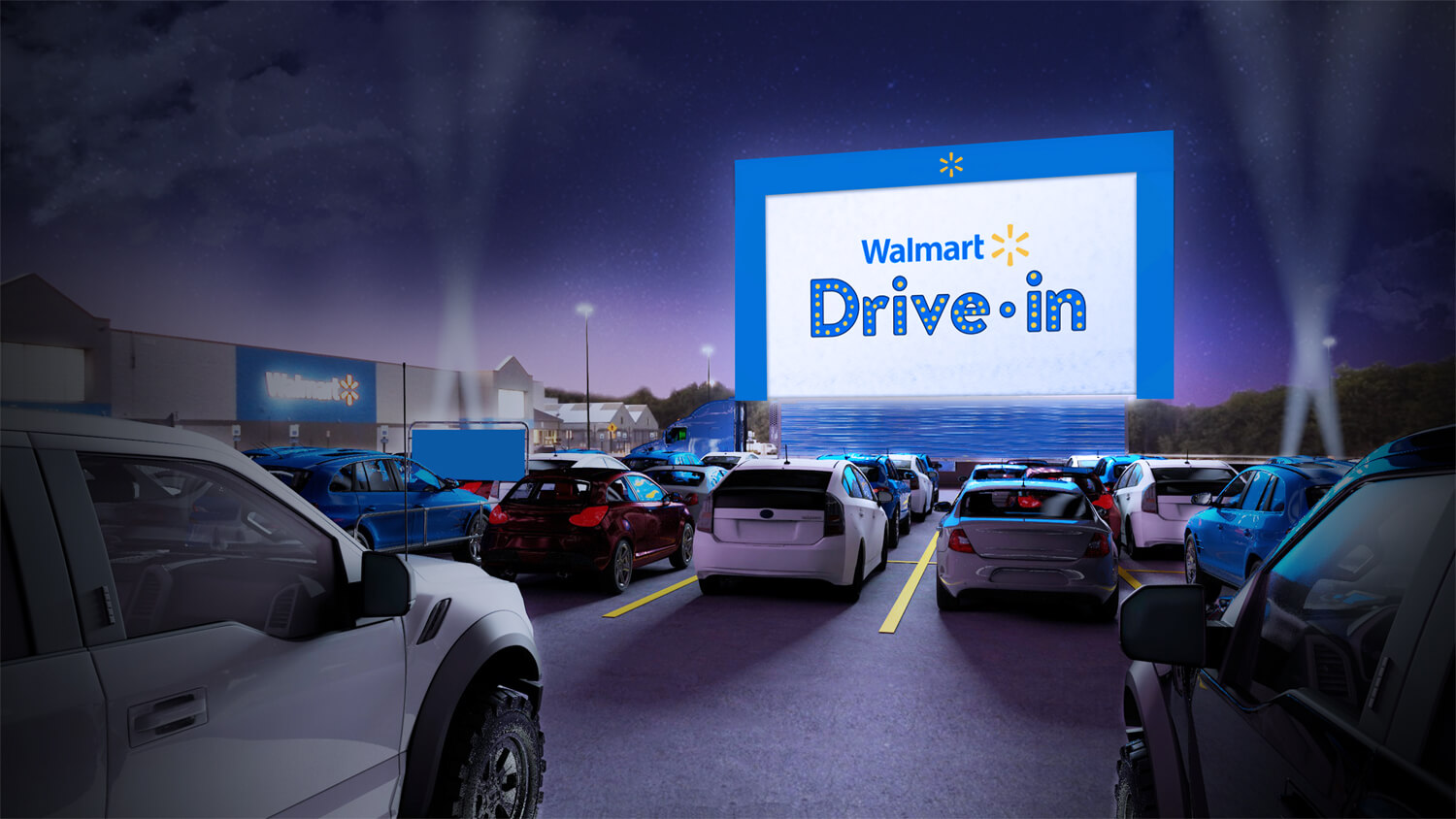 Walmart is transforming parking lots into makeshift drive-in theaters this summer
