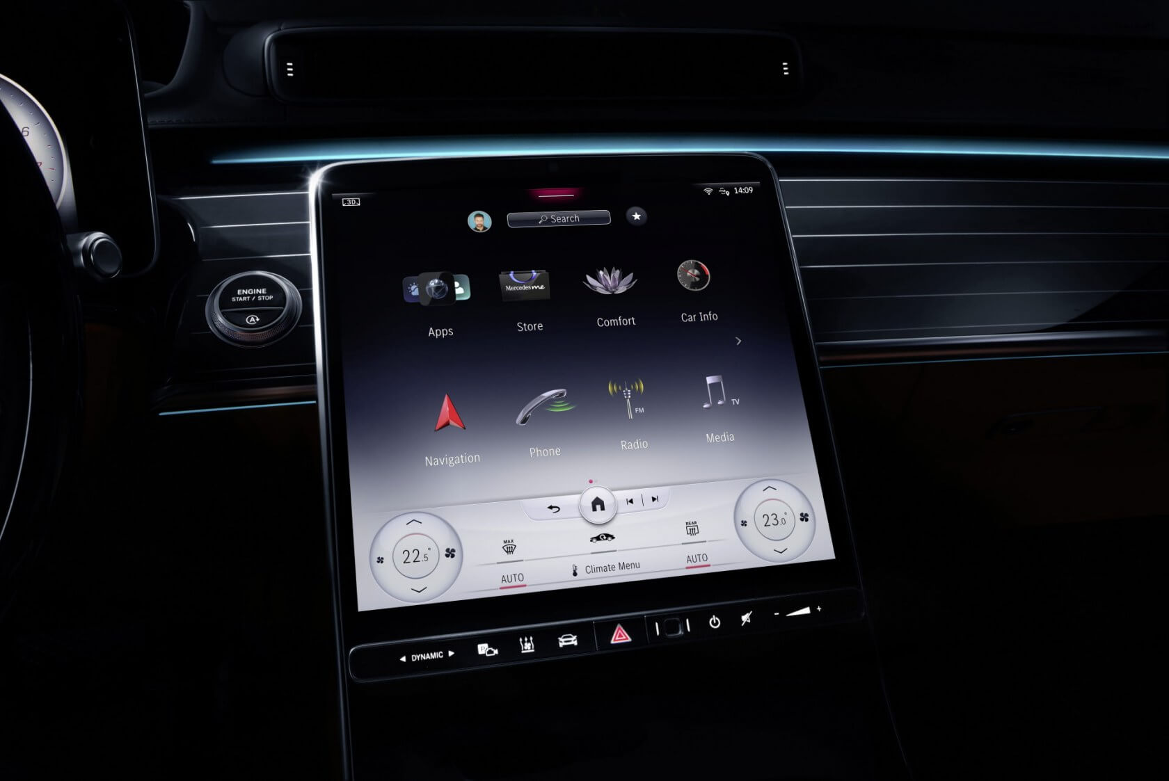 Mercedes' new in-car infotainment system replaces 27 physical buttons