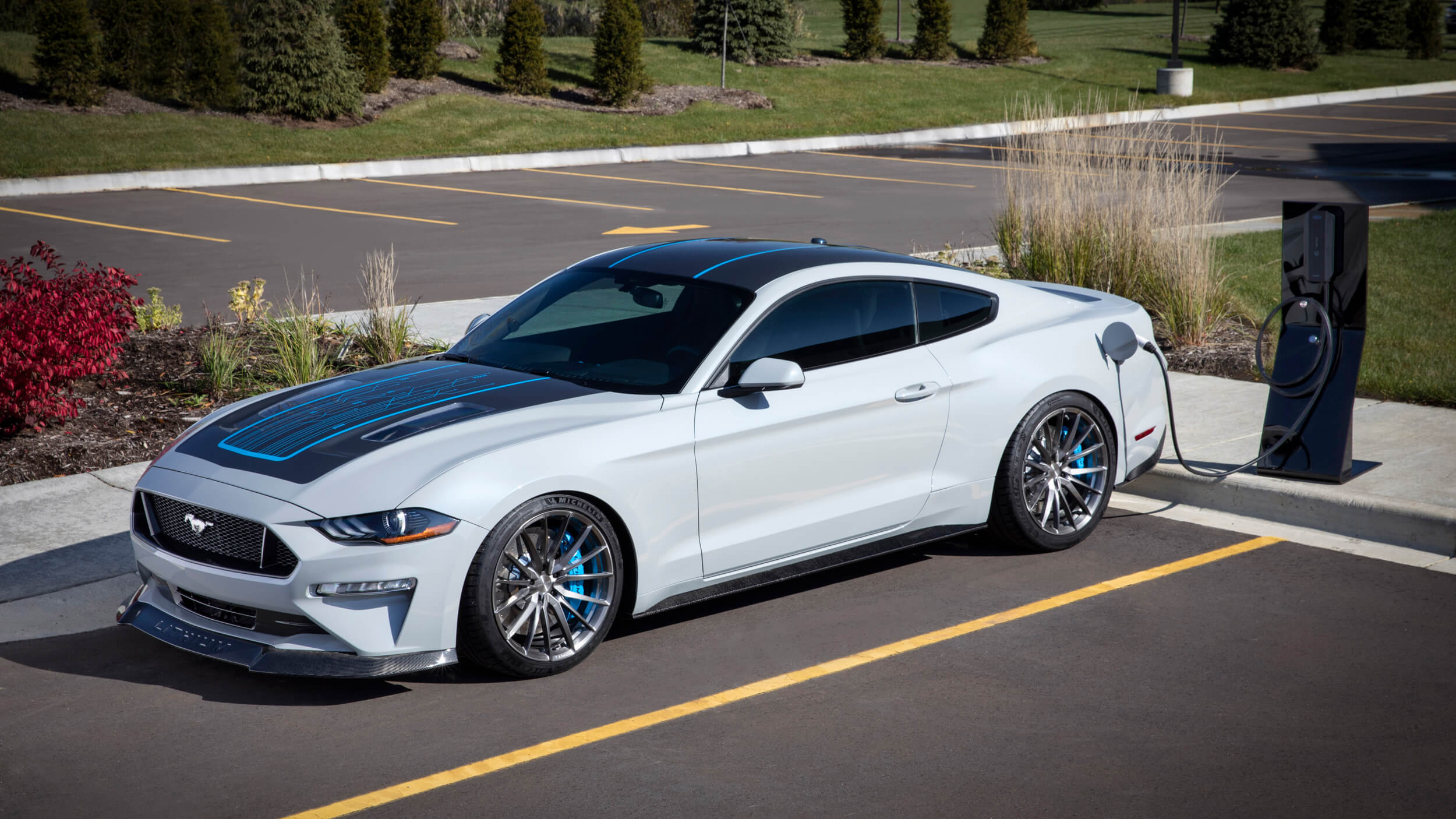 Ford makes one-off electric Mustang with 900 hp and a manual transmission