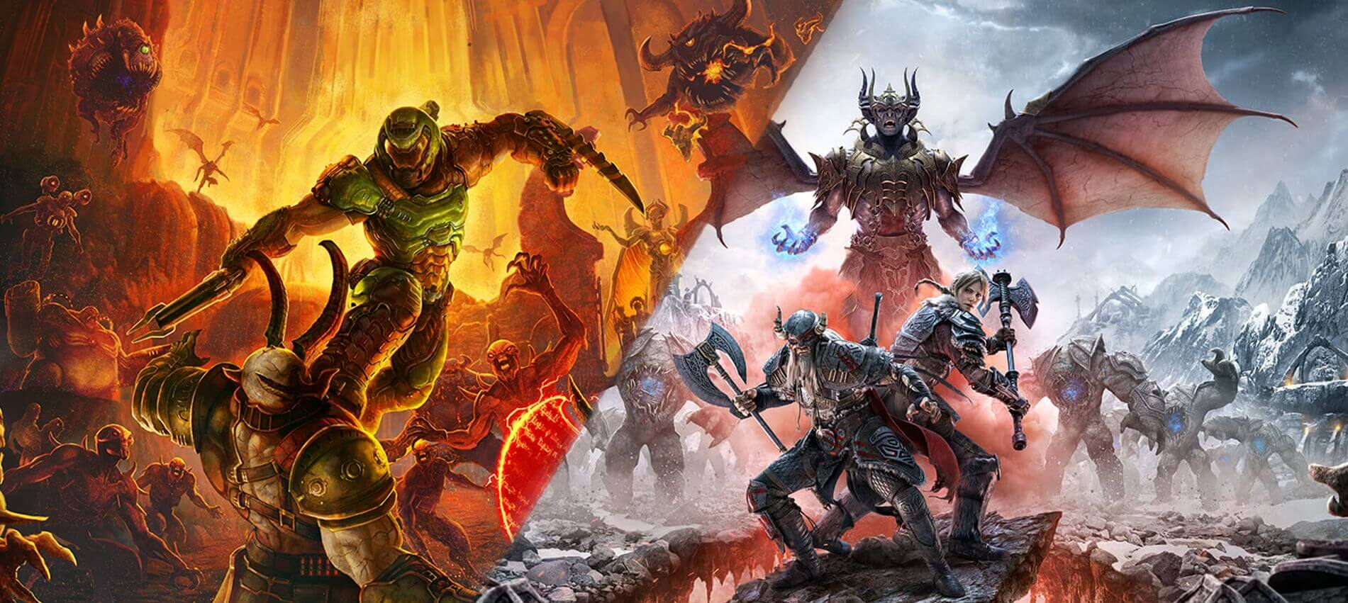 Doom Eternal and The Elder Scrolls Online are coming to next-gen consoles, with free upgrades