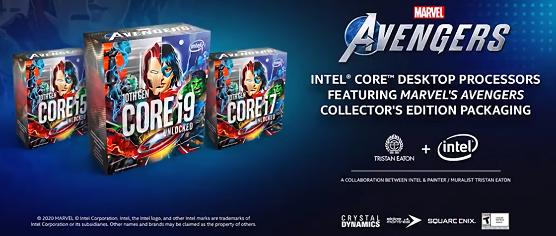 Intel confirms Marvel's Avengers Collector's Edition CPUs: cool packaging, but no game 1