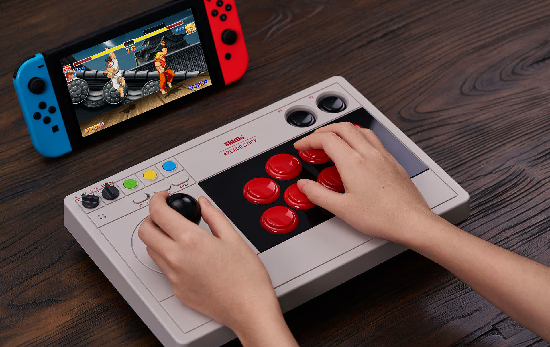 8BitDo is making a moddable arcade gaming stick for PC and Switch