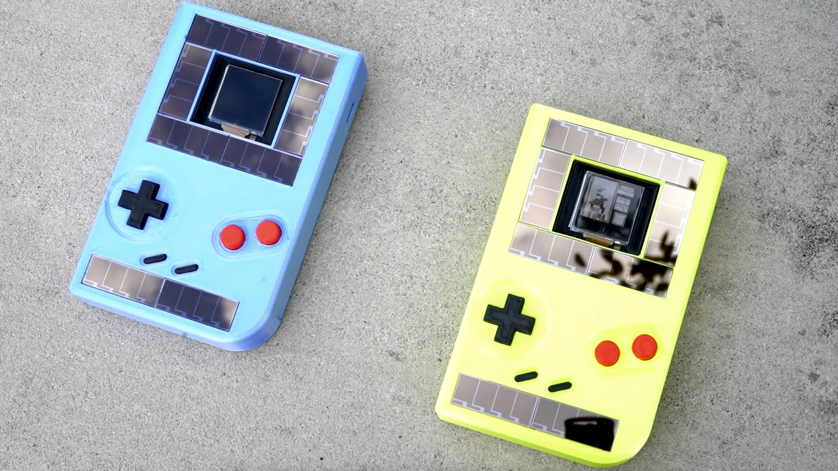 Solar-powered Game Boy can run indefinitely (but shuts down every 10 seconds)