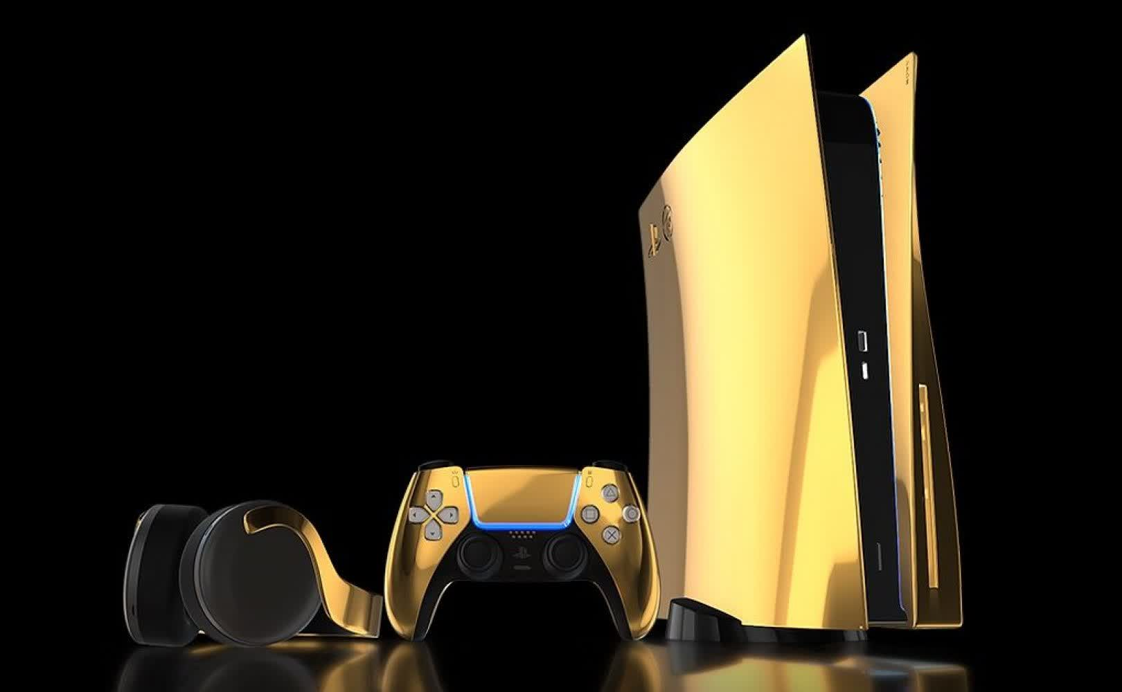 This 24K gold PlayStation 5 will set you back $10,000