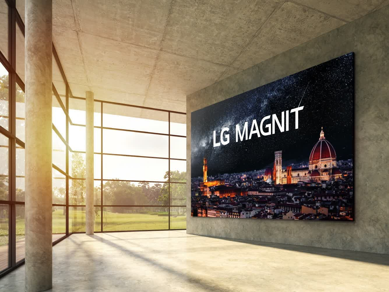 LG unveils 163-inch MicroLED TV