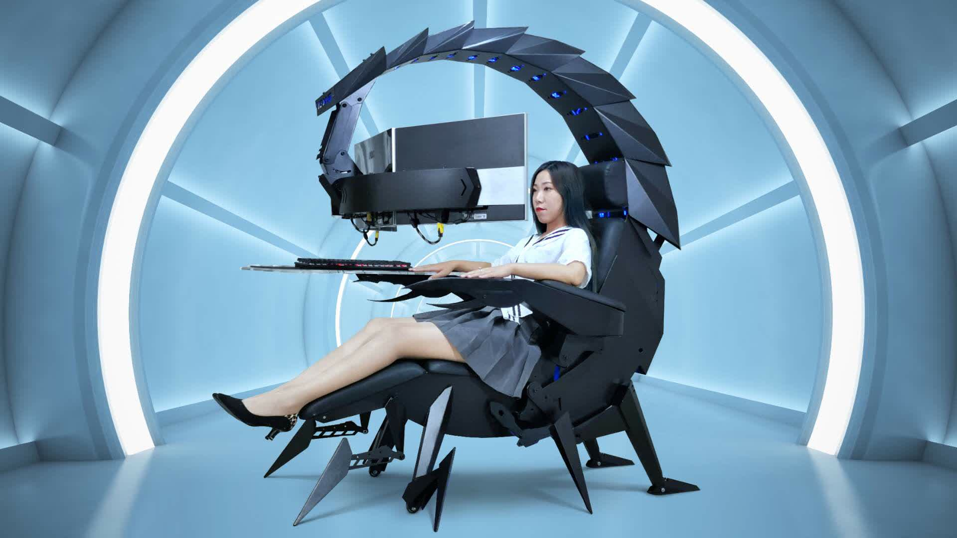 Sting your competition with this giant scorpion gaming cockpit from Cluvens