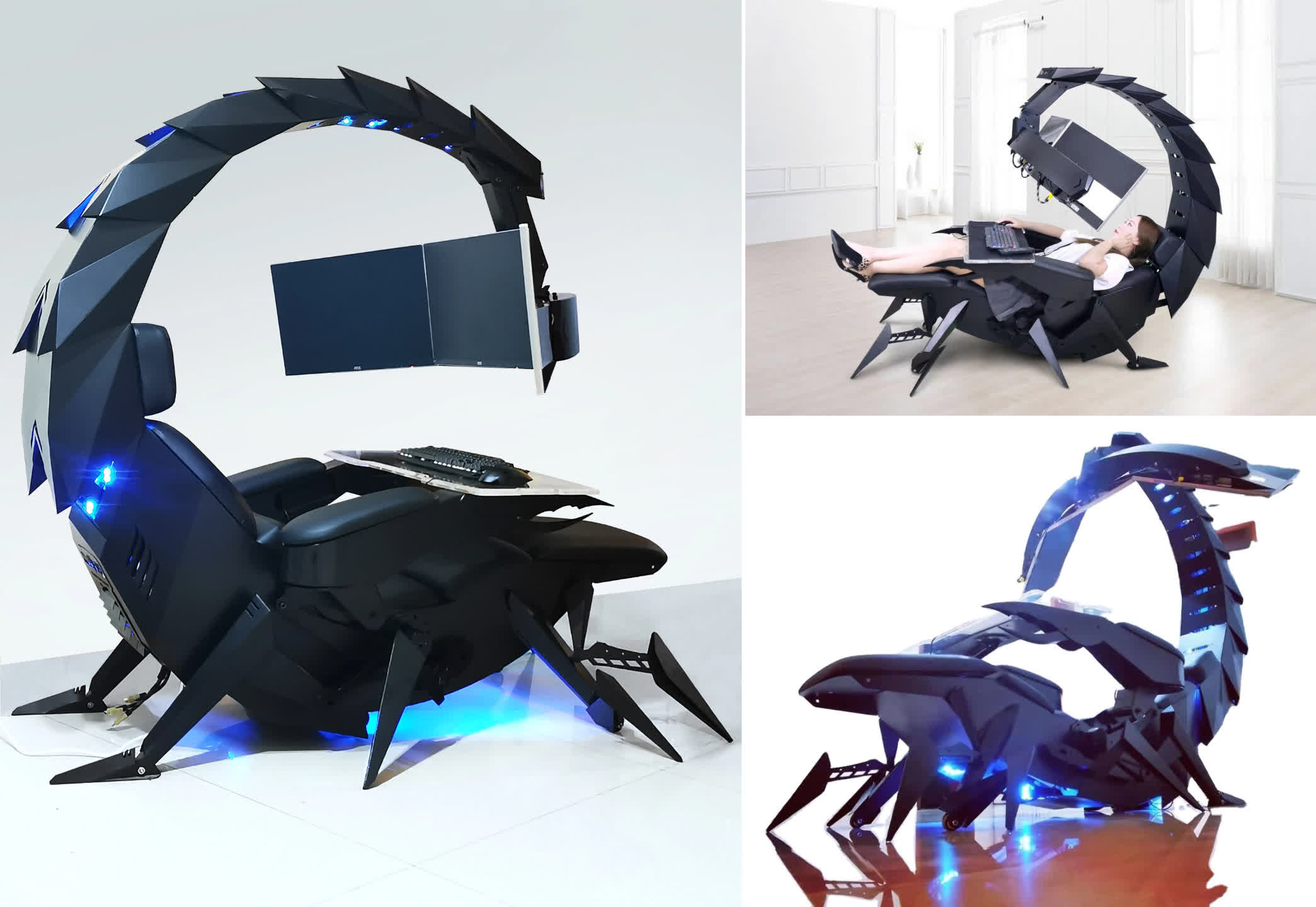 , Sting your competition with this giant scorpion gaming cockpit from Cluvens