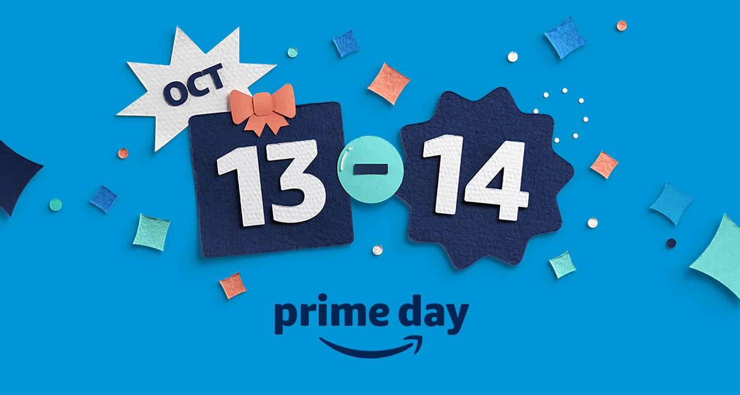 Amazon confirms Prime Day will take place on October 13-14