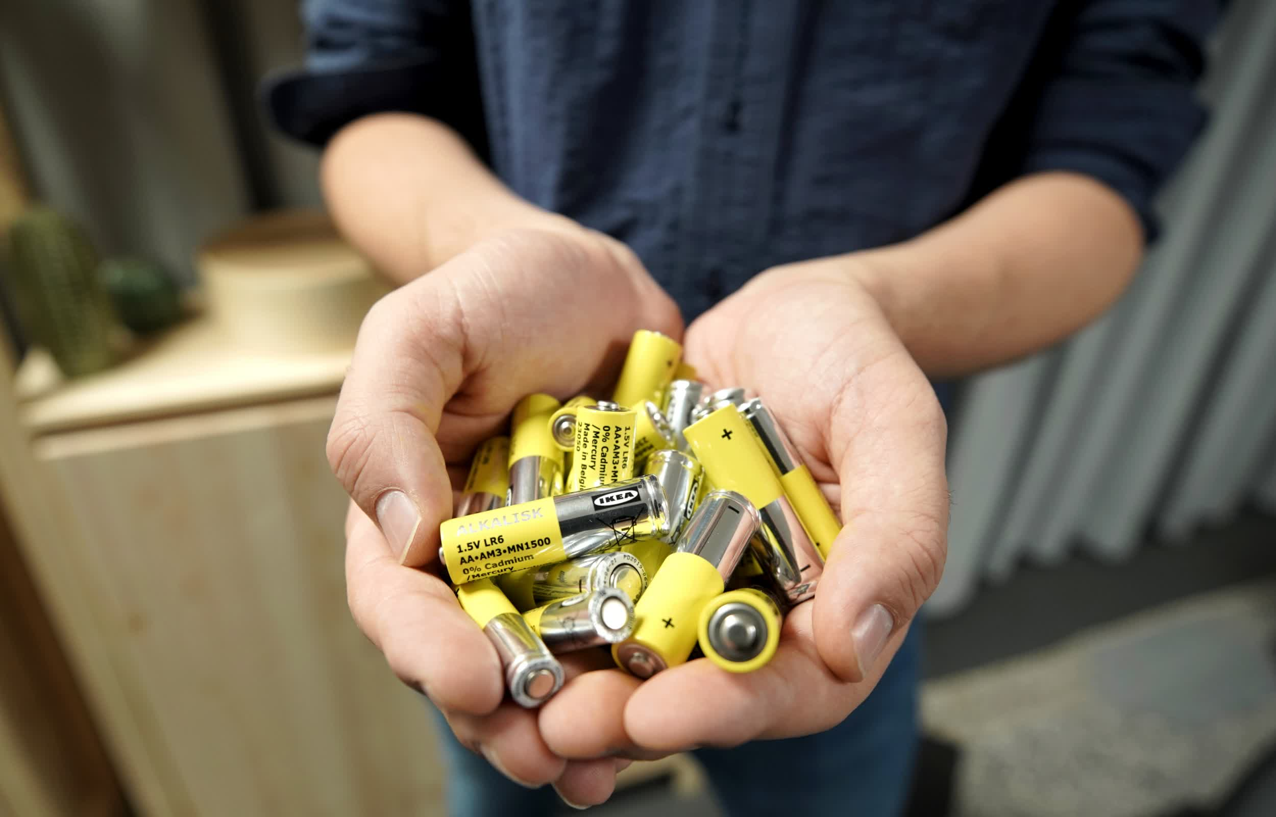 Ikea, which sold 300 million alkaline batteries last year, will stop offering them in 2021