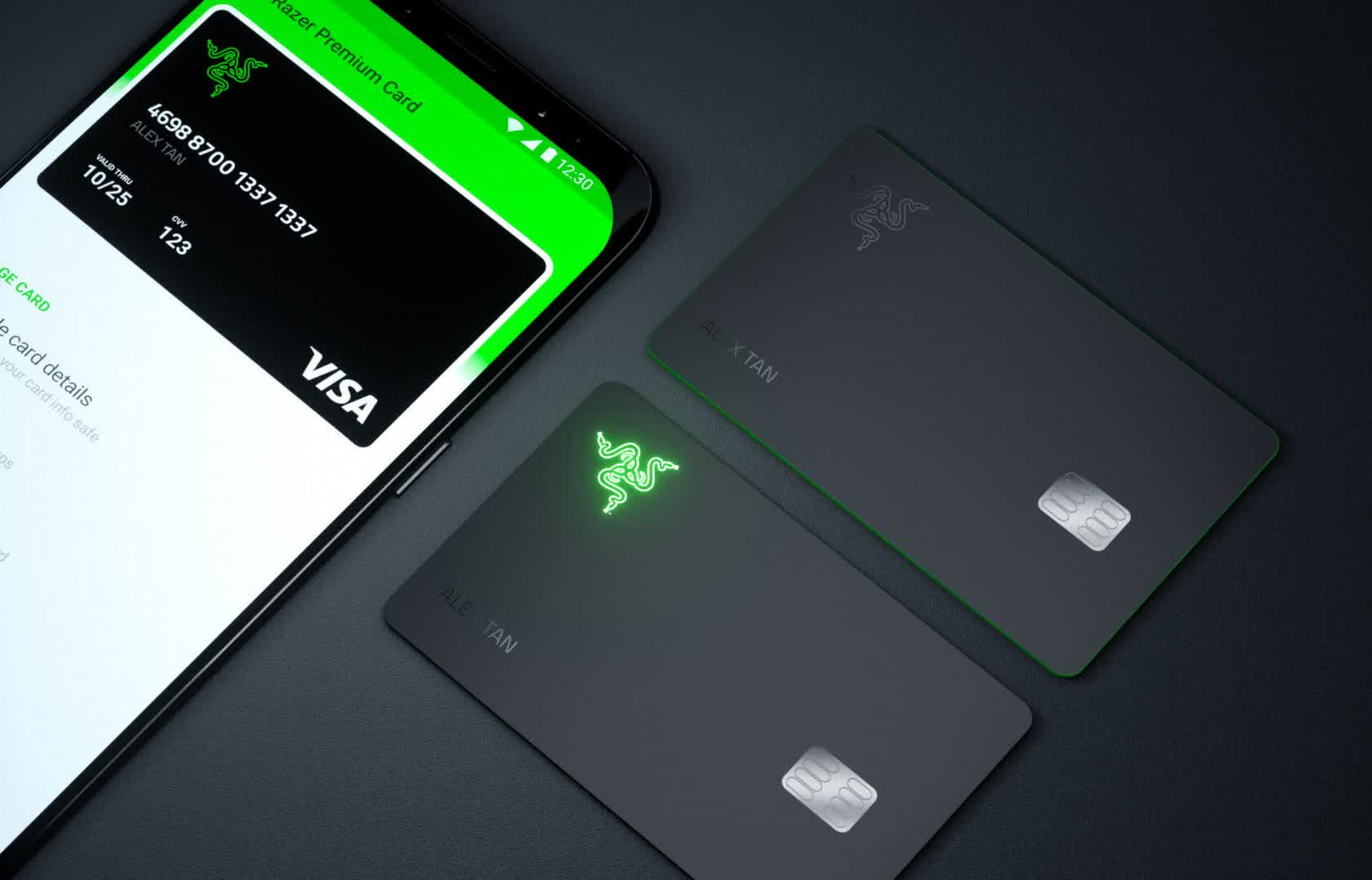 Razer is launching a pre-paid Visa card... with a built-in LED, of course