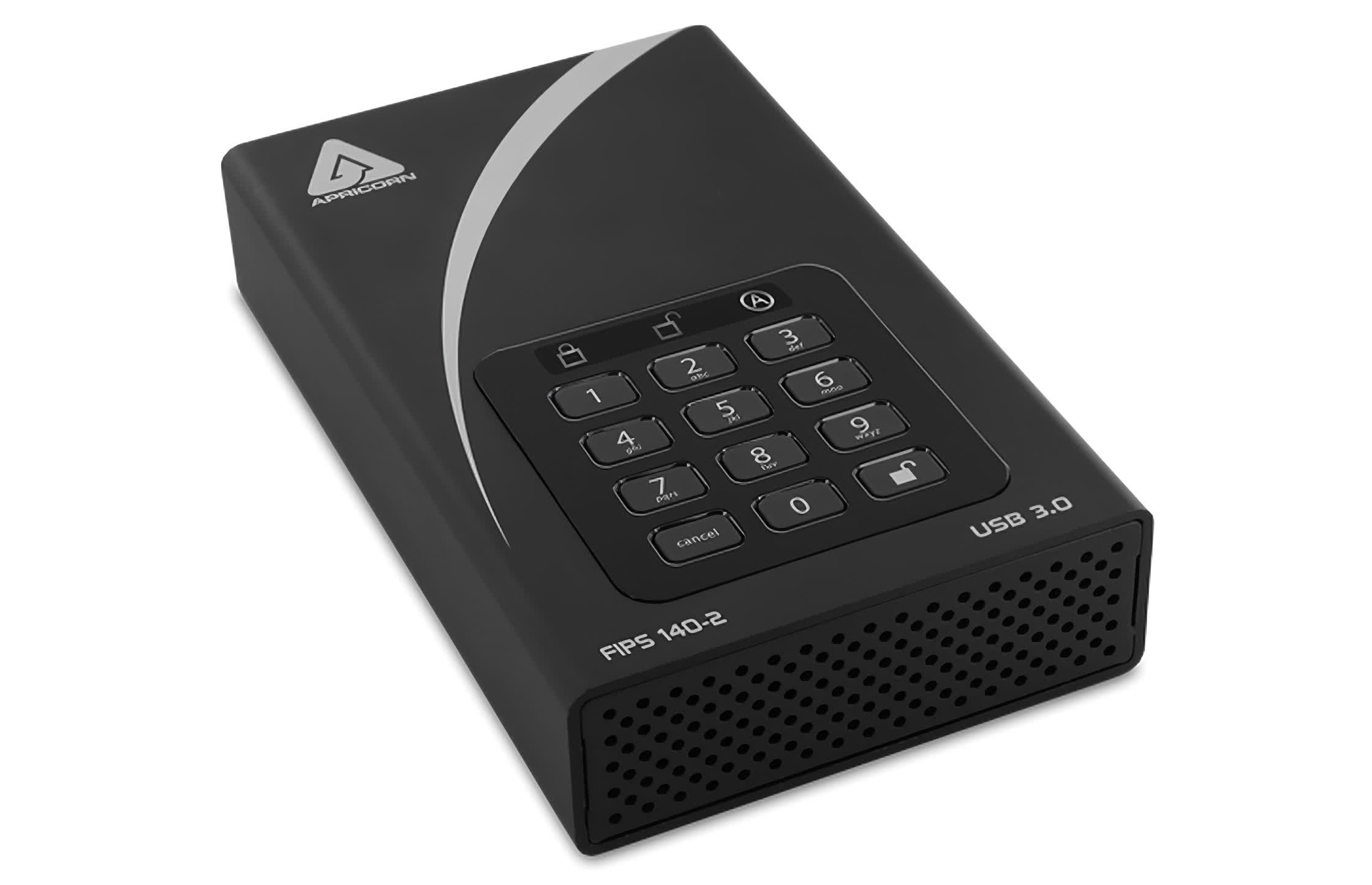 Apricorn launches the world's largest and possibly most secure external HDD