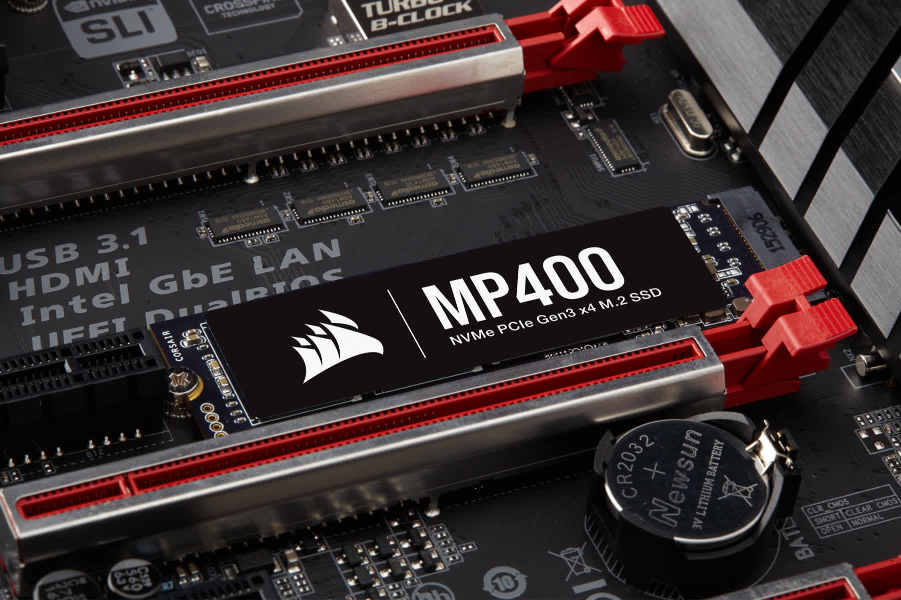 Corsair's latest MP400 m.2 NVMe SSD offers up to 8TB of QLC storage