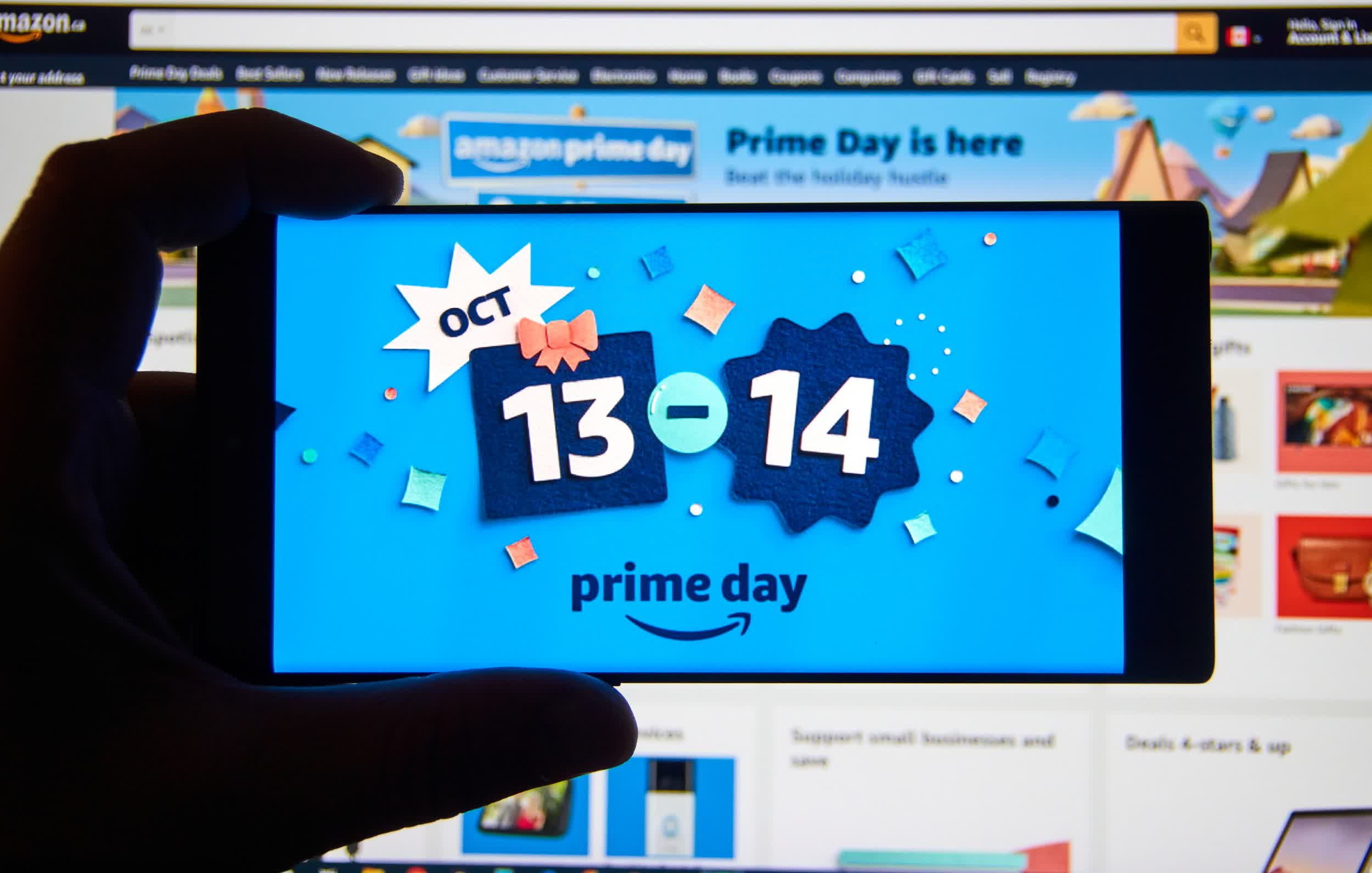 Amazon said third-party sellers surpassed $3.5 billion in sales during Prime Day