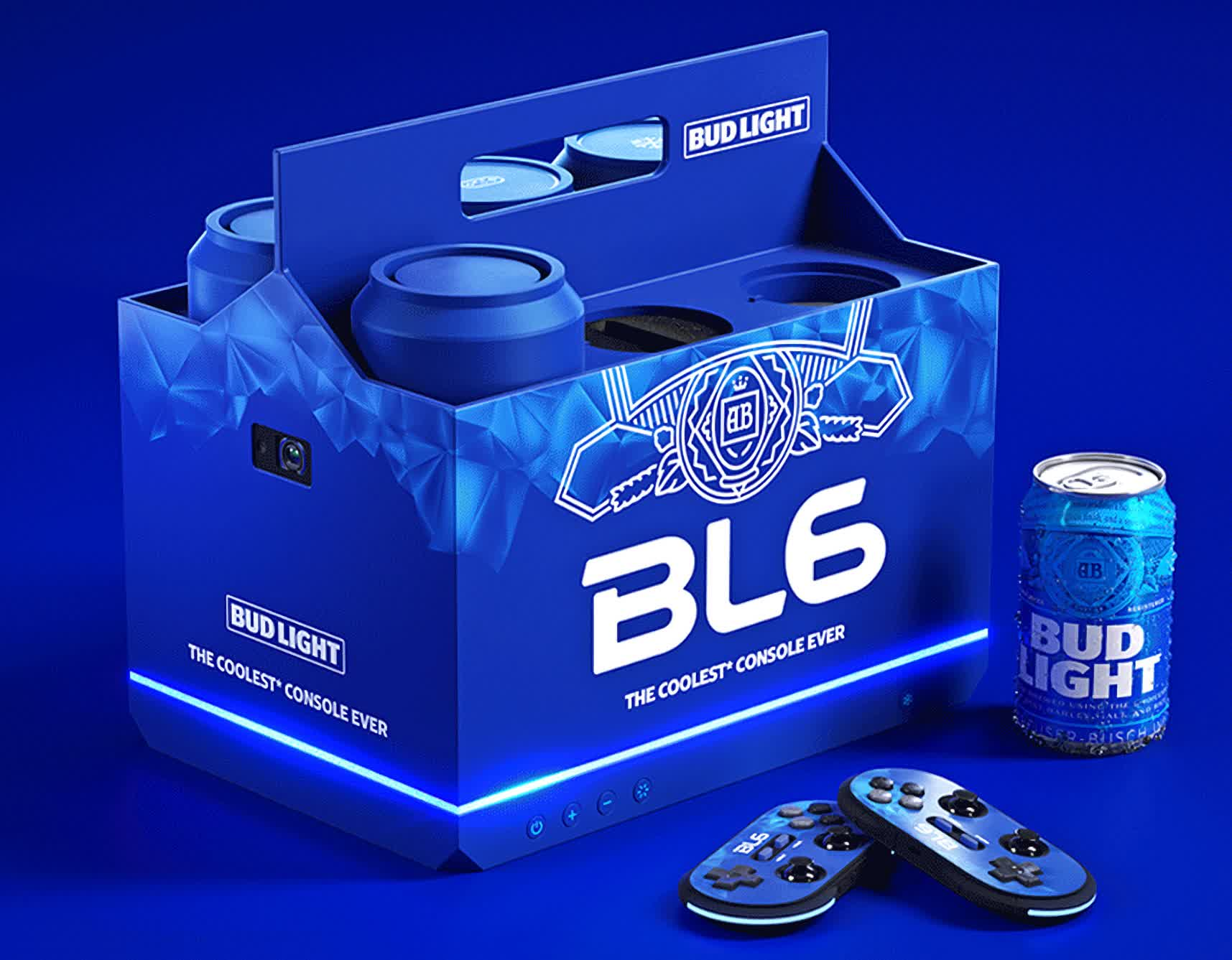 Bud Light's BL6 is a mini PC shaped like a six-pack that actually plays games