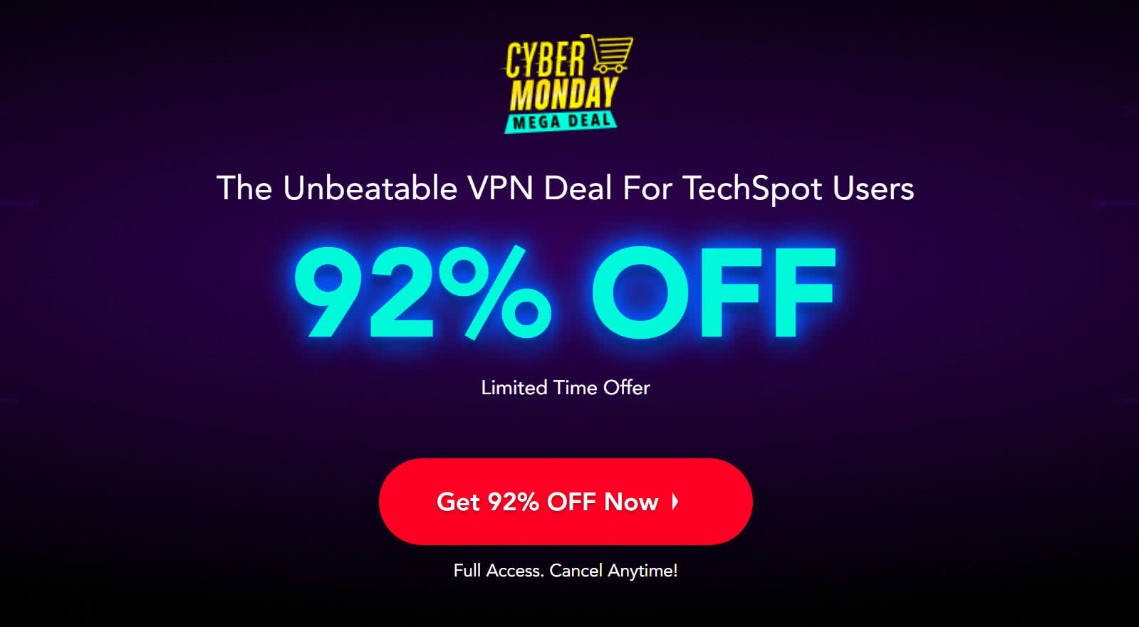 PureVPN goes full blown Cyber Monday with 92% off discount