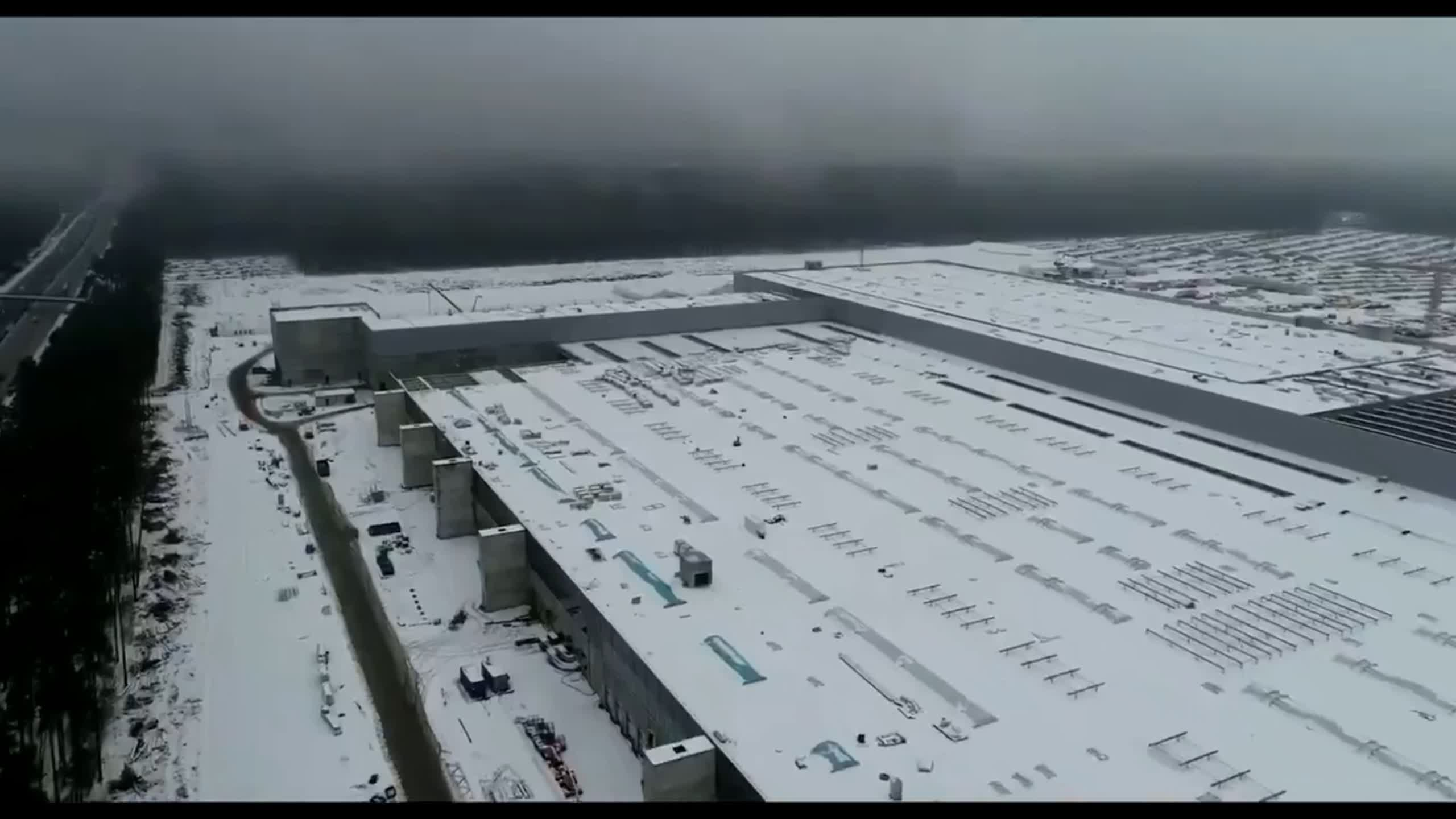 Elon Musk posts drone footage of Berlin Gigafactory as it nears completion