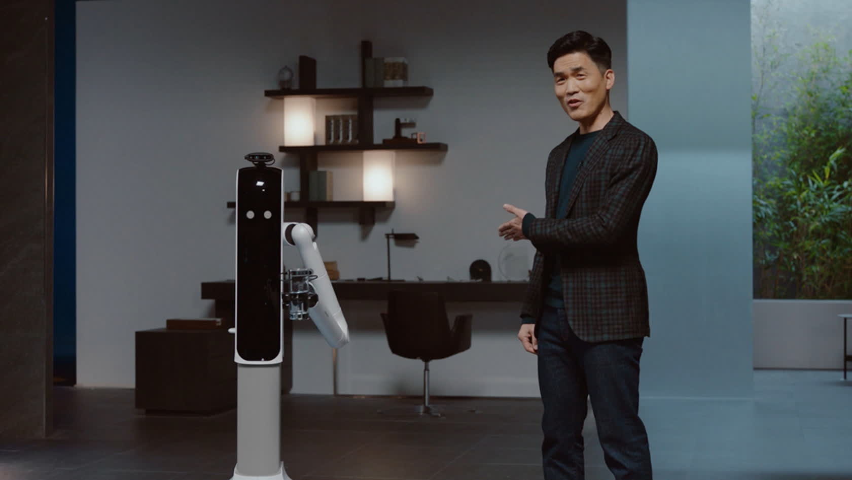 Samsung's 'Bot Handy' can put away dishes, set a table, and pour drinks for you