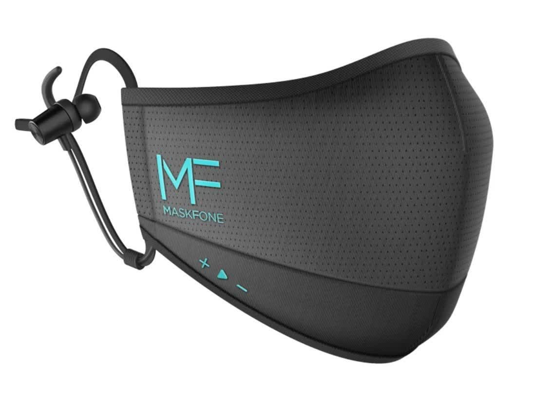 Struggle with phonecalls while wearing a mask? This one has an embedded Bluetooth headset