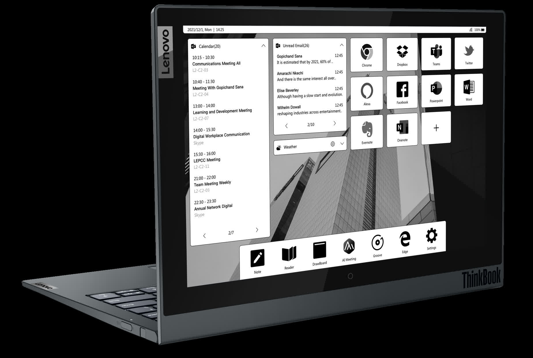 Lenovo vastly improved the E Ink display on its second-gen ThinkBook Plus