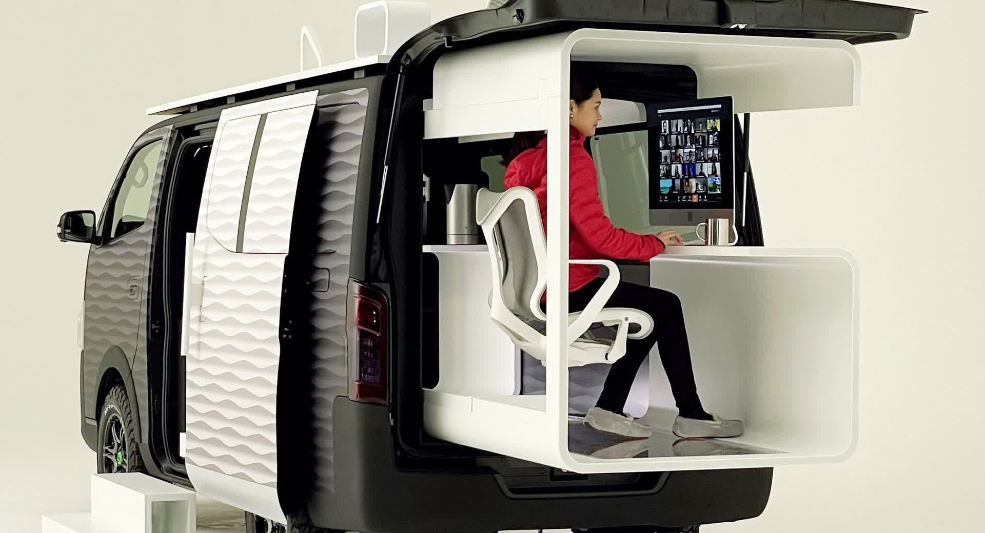 Take the office into the wilderness with Nissan's concept vehicle