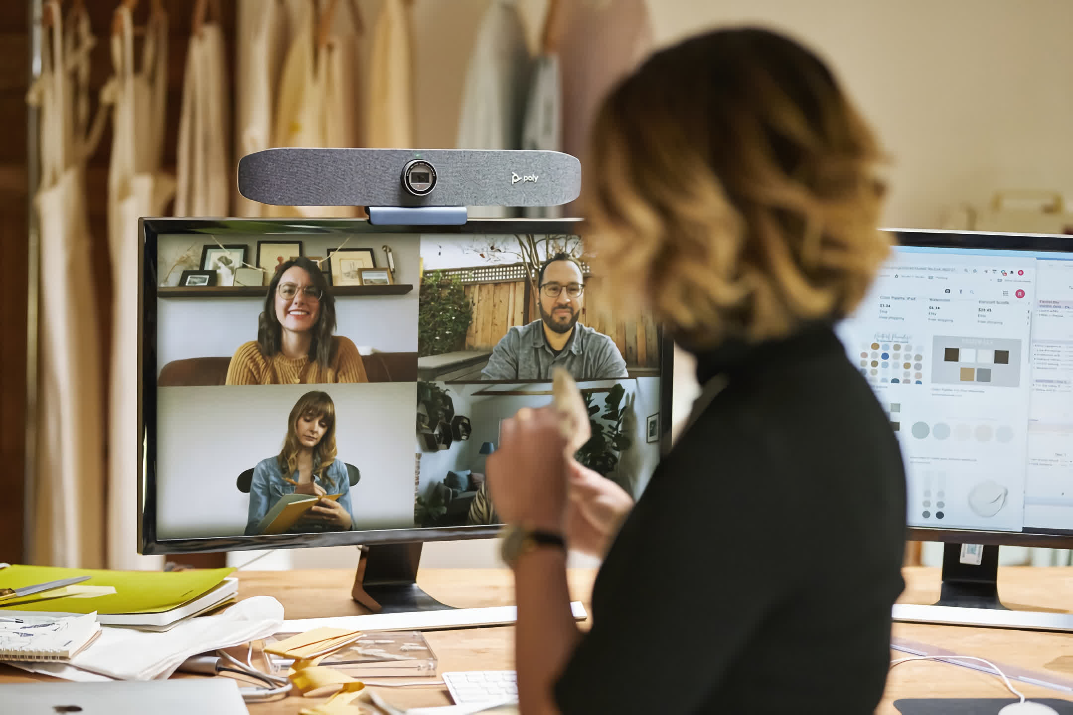 Poly shows off high-res webcams, video conferencing monitor, and services