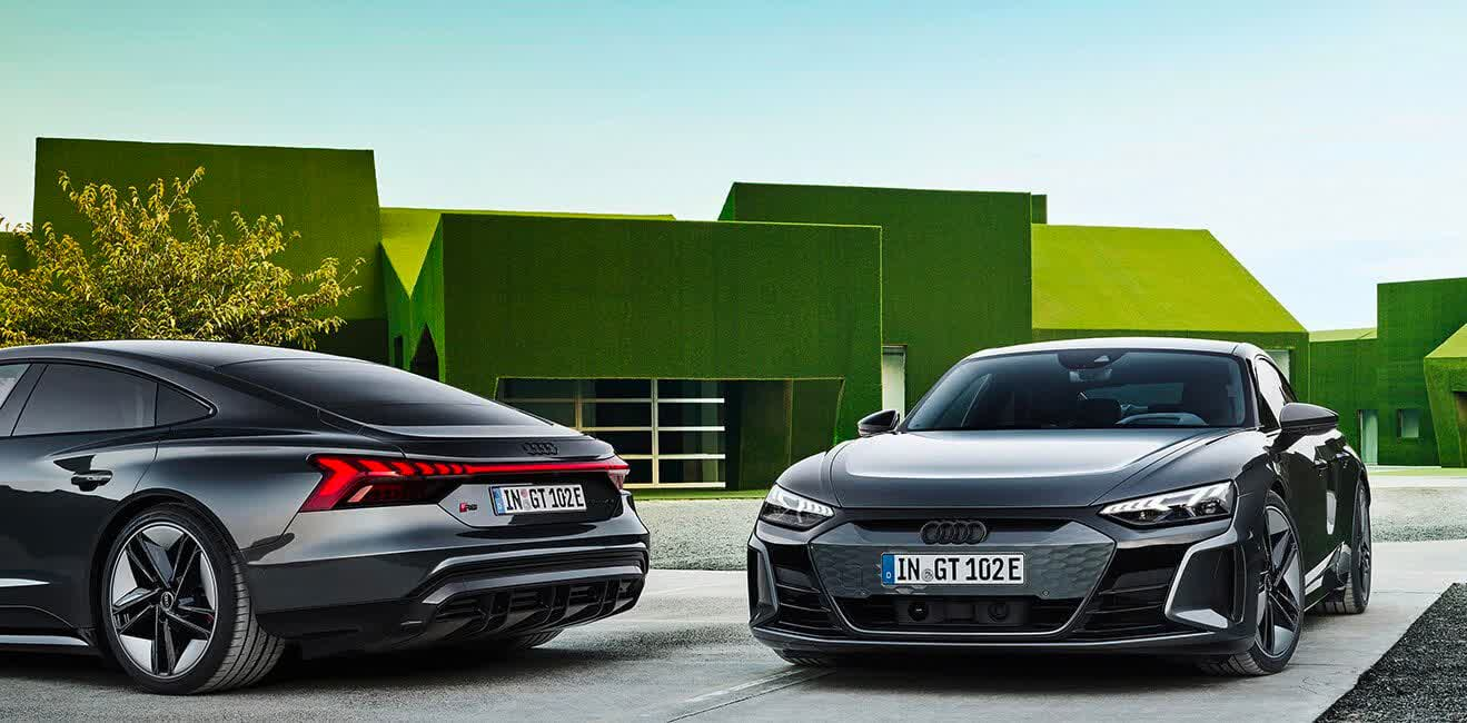 Audi takes on the Tesla Model S and Porsche Taycan with the $100,000 e-tron GT