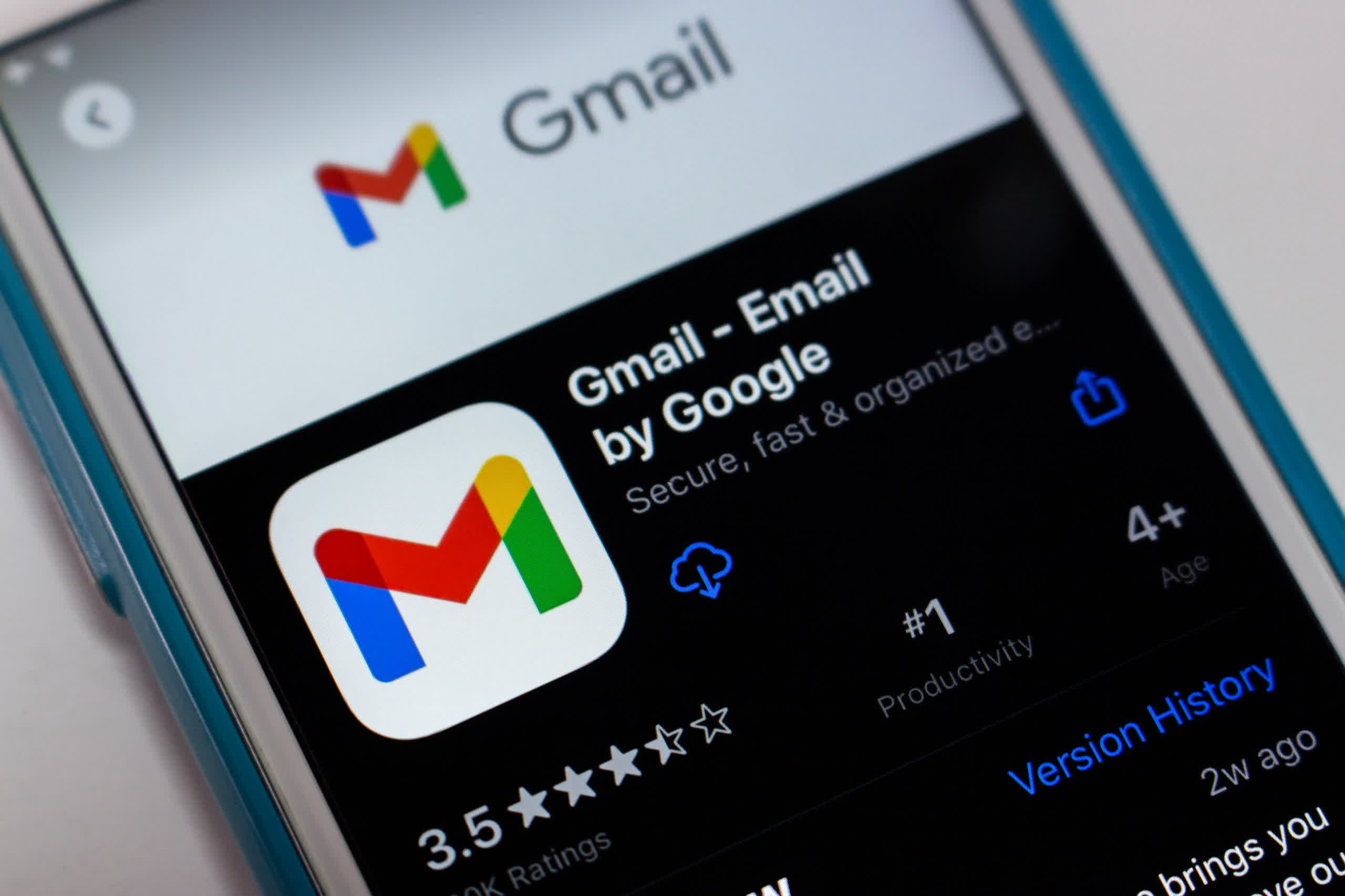Google finally updated Gmail's App Store entry with privacy 'nutrition labels'