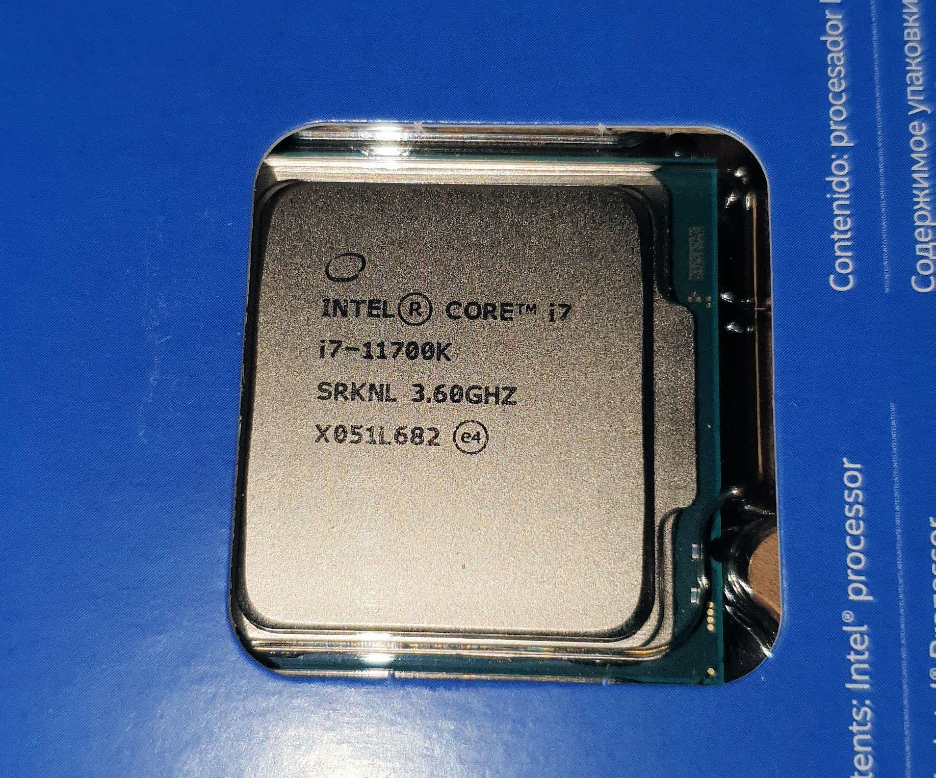 Intel's unreleased i7-11700K is being sold and shipped in Germany thumbnail
