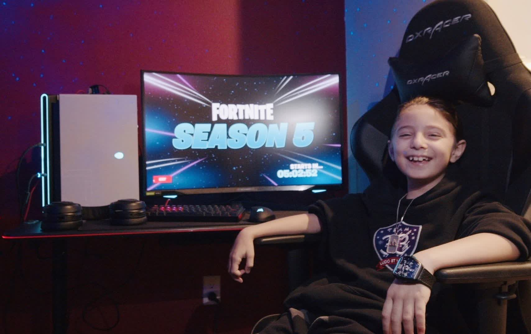 Eight-year-old Fortnite player given $33,000 and $5,000 PC for turning pro
