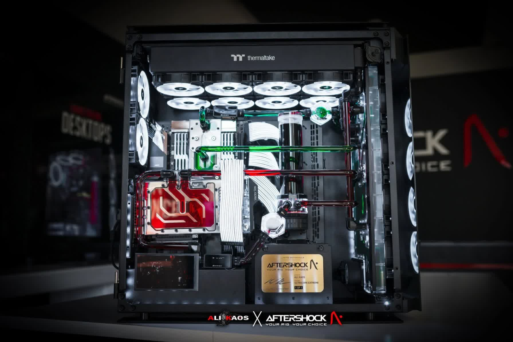 This ,000 custom PC features two RTX 3090 cards, an AMD 3990X Threadripper, and 128GB RAM