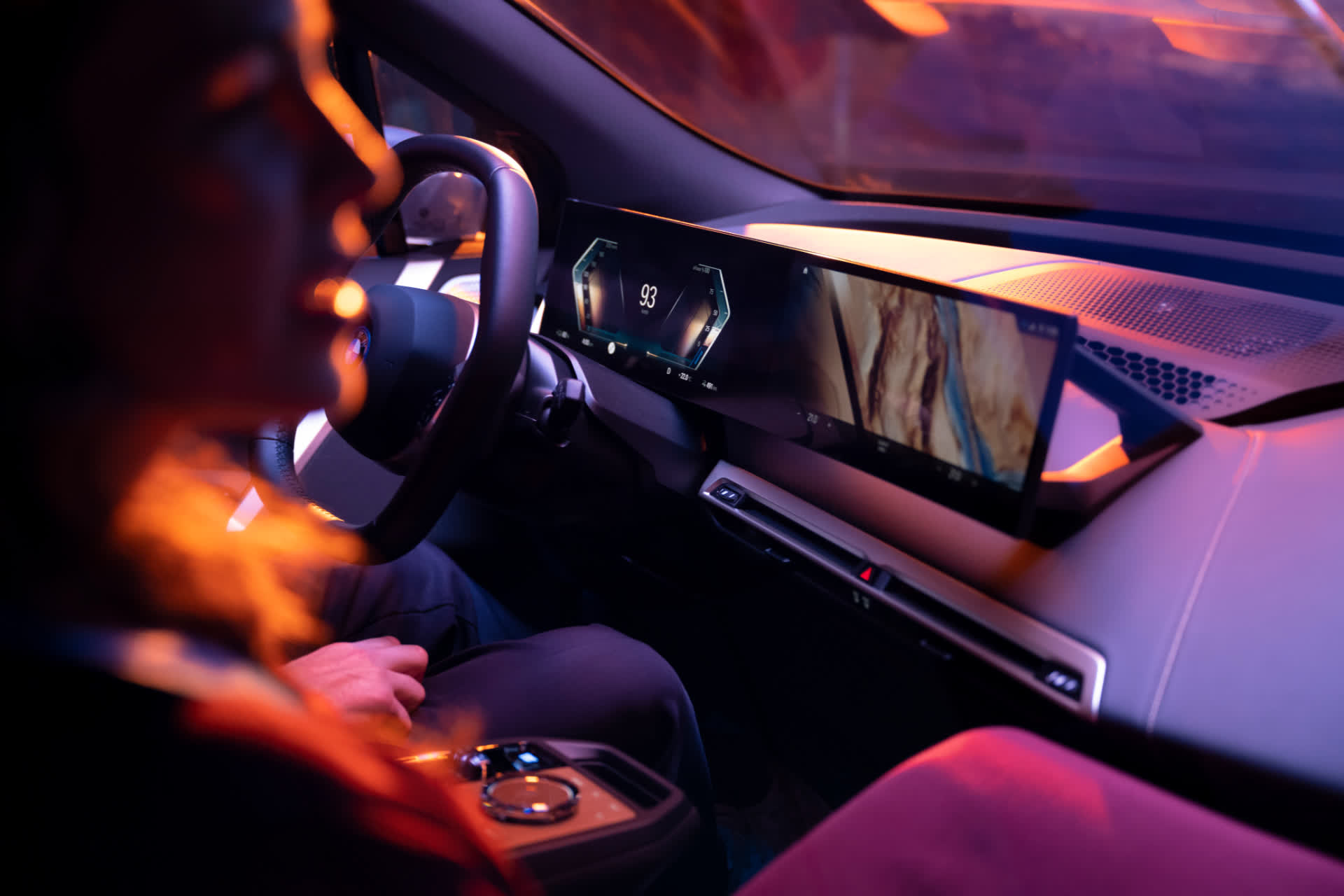 BMW's all-new iDrive infotainment system features curved screens, will debut in upcoming EVs