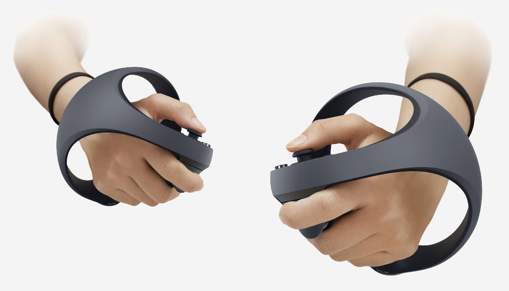 Sony showcases the controllers for its PlayStation 5 virtual reality system