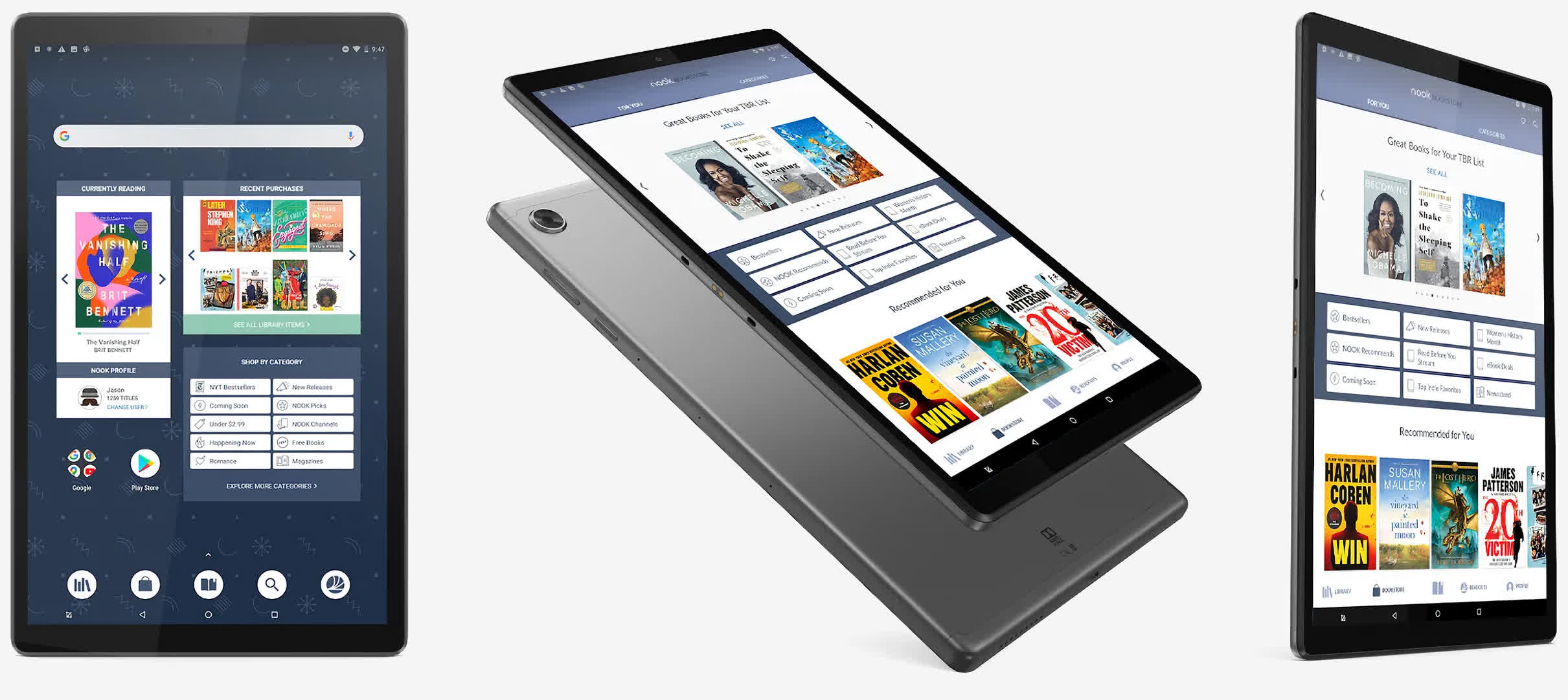 Barnes & Noble partners with Lenovo on its latest 10-inch Nook tablet