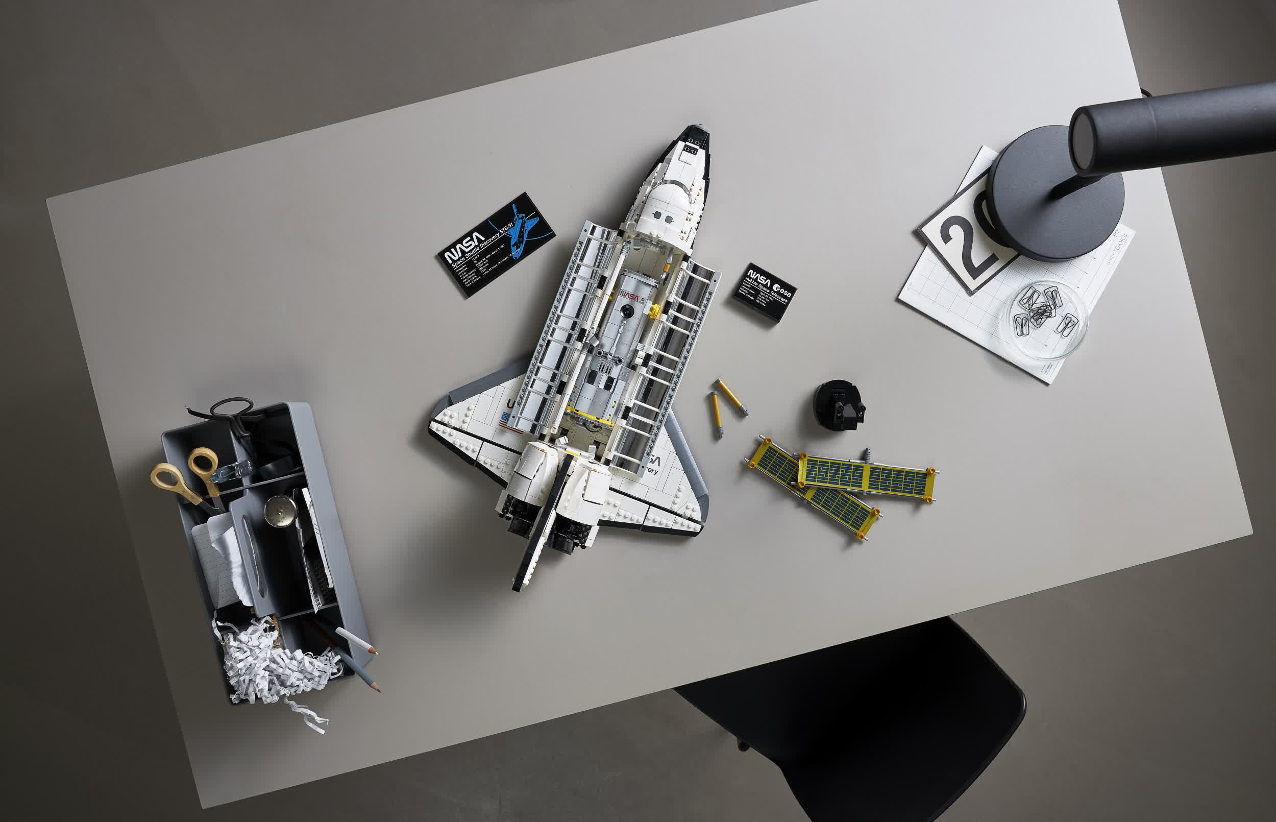 Lego Space Shuttle Discovery with Hubble Telescope set drops on April 1 for $199.99