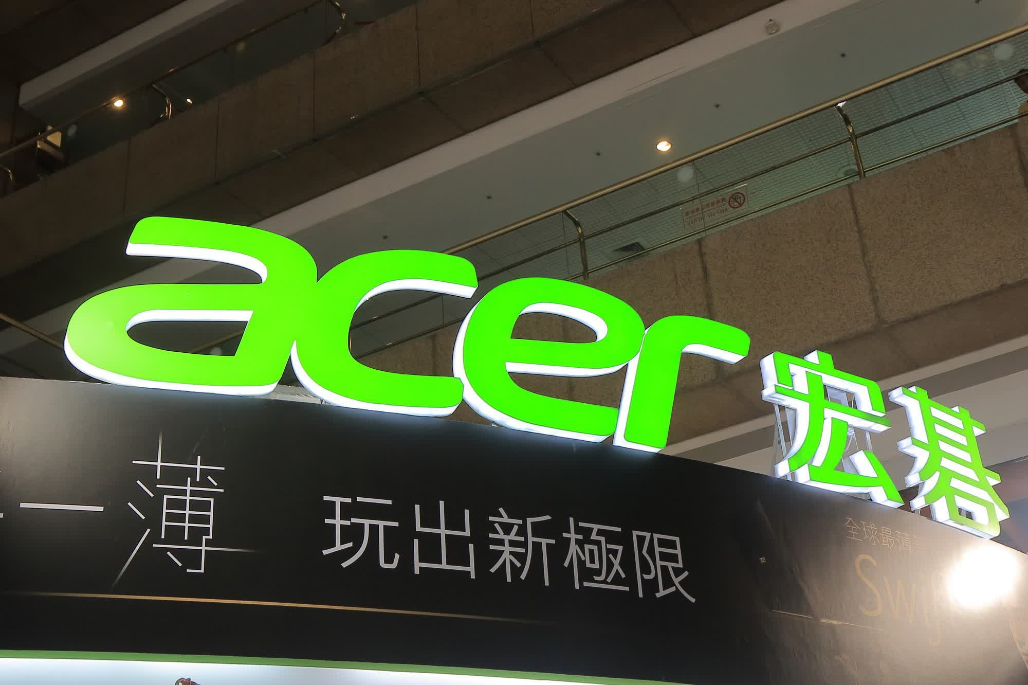 Acer warns that chip shortage will impact laptop production until 2022