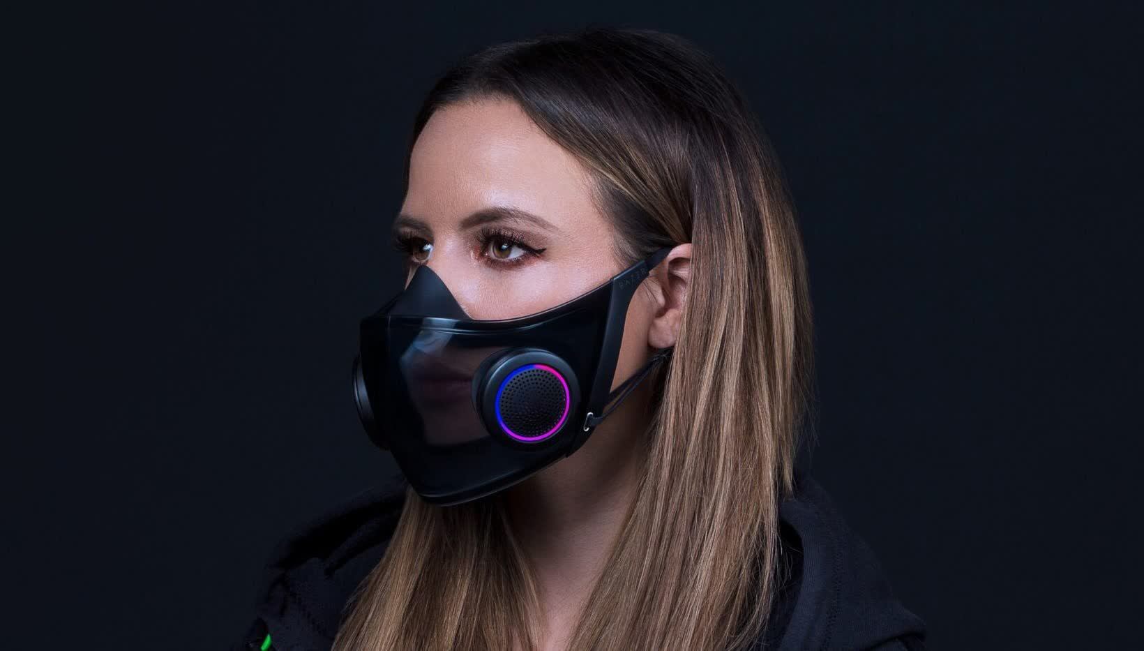 Razer really is making its RGB-packed transparent face mask