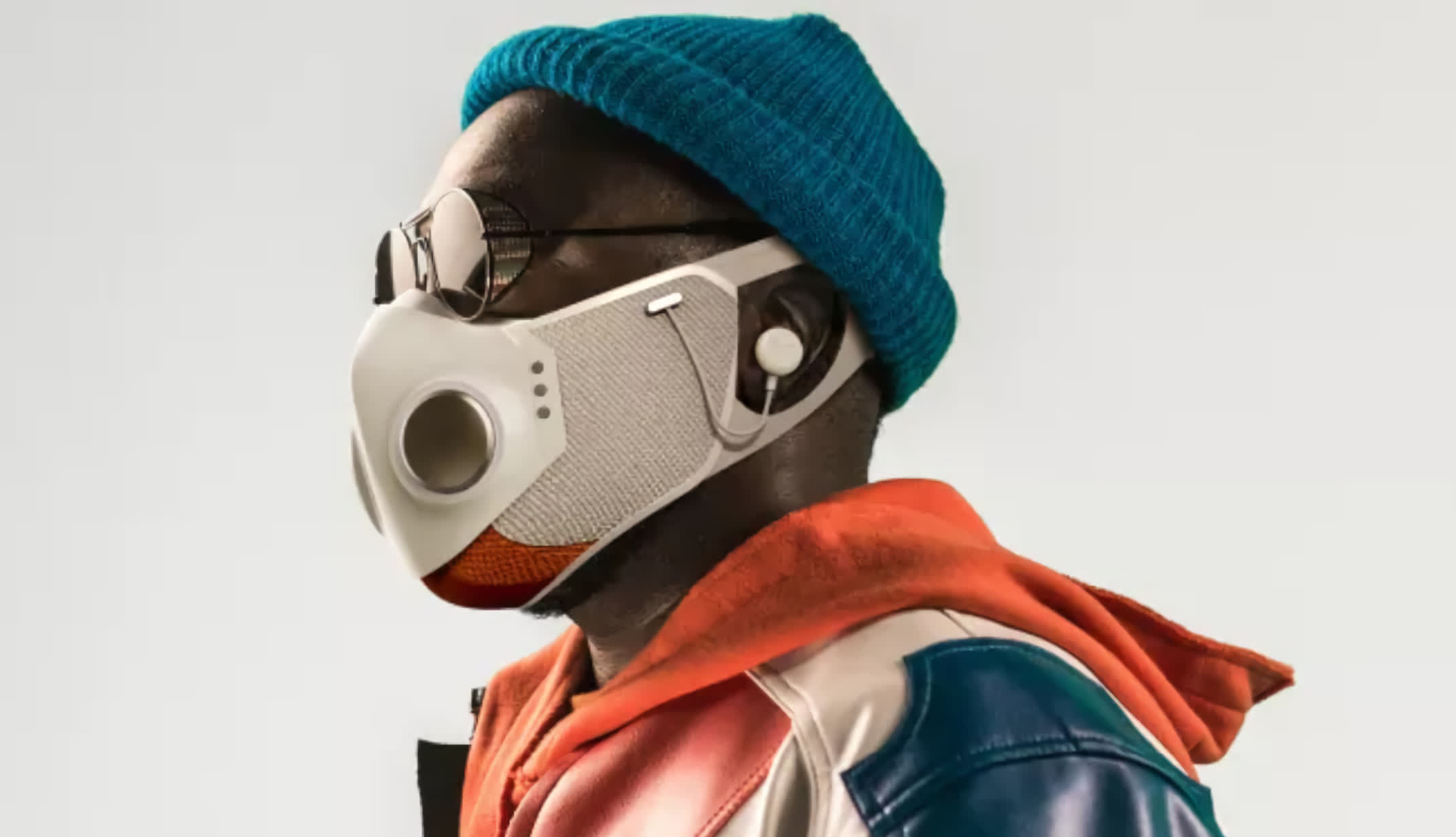 Will.i.am reveals his 9 face mask featuring dual fans, ANC headphones, Bluetooth, and more
