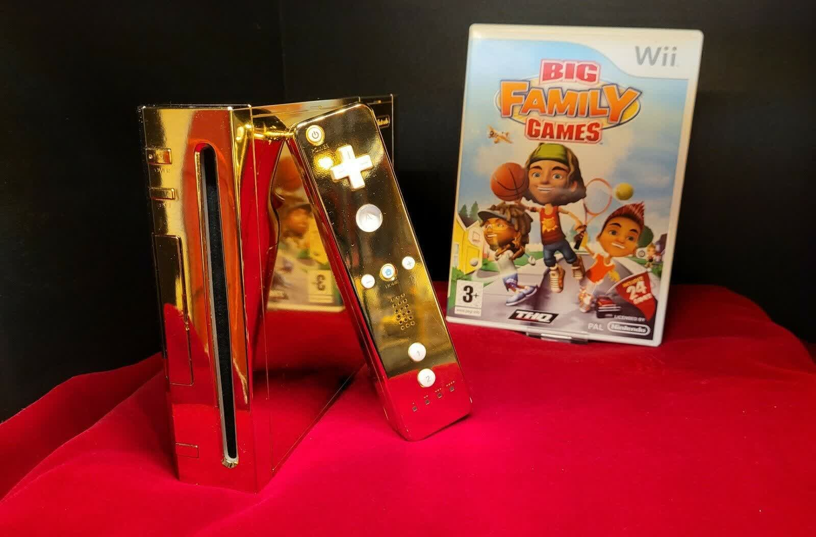 The 24 karat gold-plated Nintendo Wii made for the Queen can be yours for $300,000