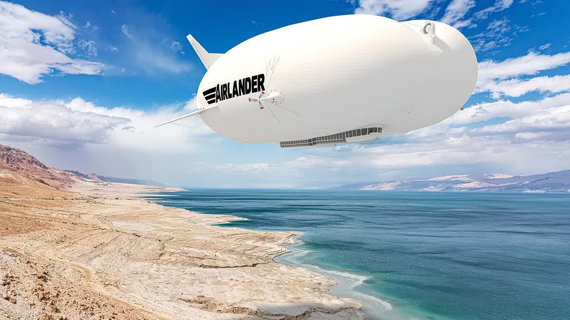 Company aims to offer short-haul airship travel by 2025, helping reduce airline industry's CO2 emissions