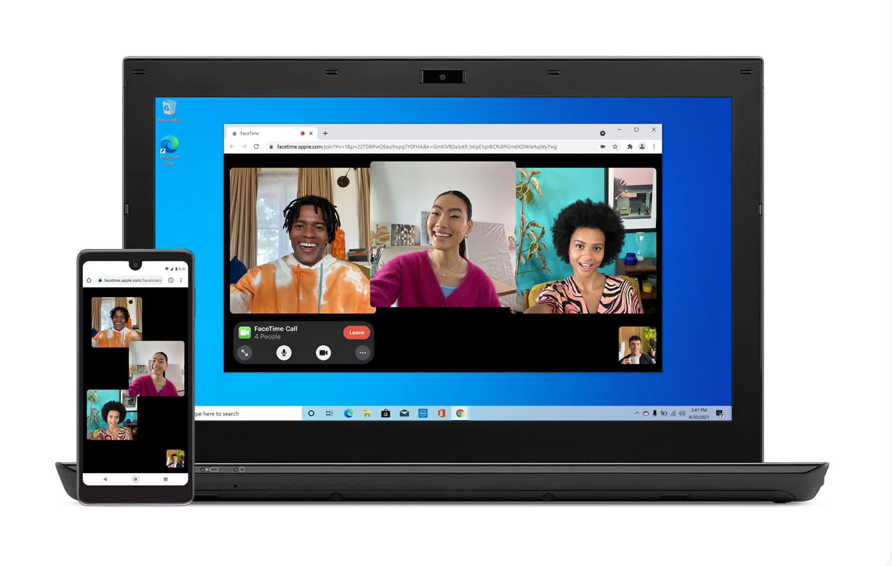 Apple is bringing FaceTime to Android and Windows... kind of