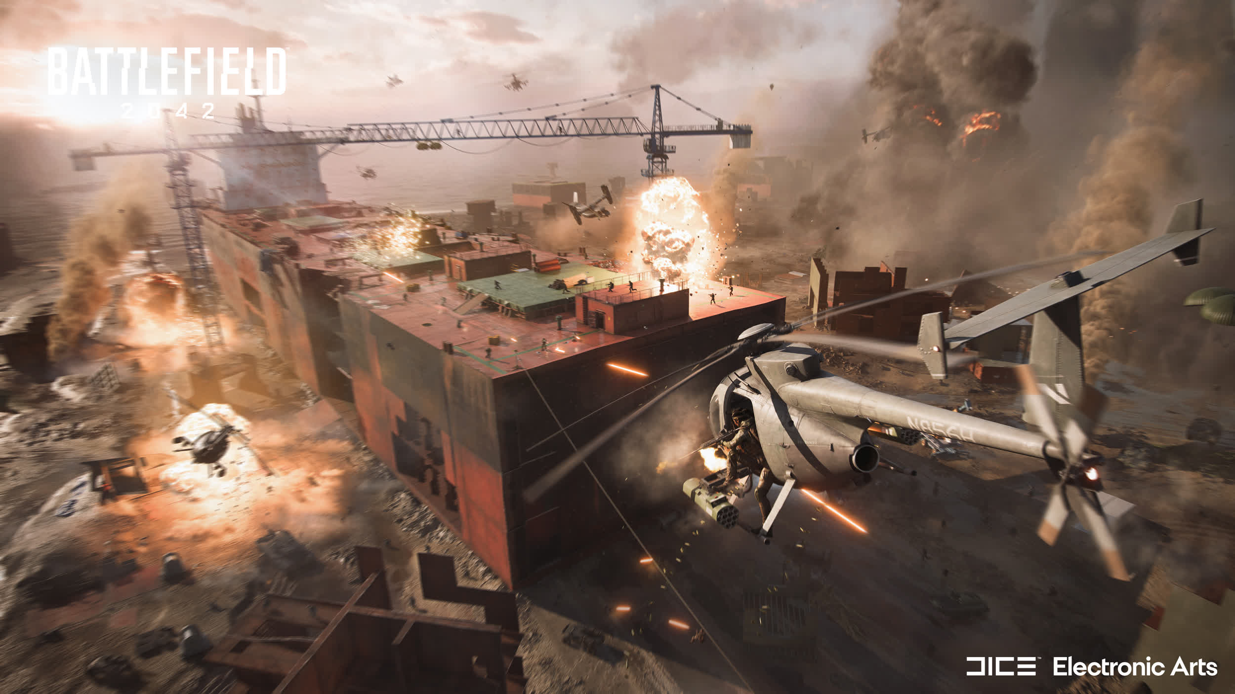 Battlefield 2042 – A multiplayer shooter from the near future with real-time weather, wingsuits, and up to 128 players per game