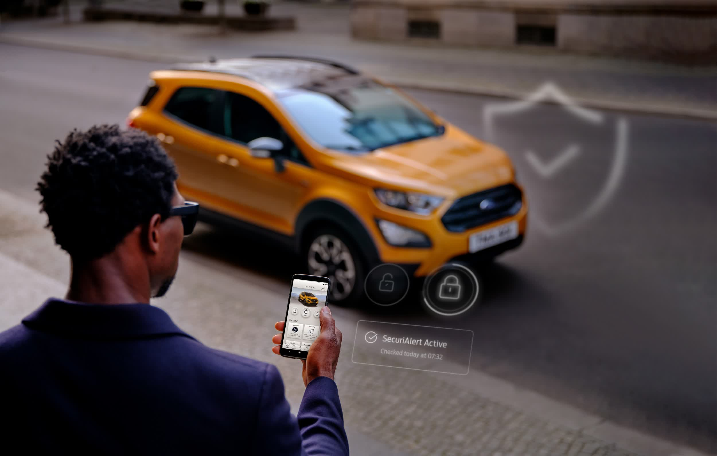 SecuriAlert is a smartphone connected alarm system for Ford owners