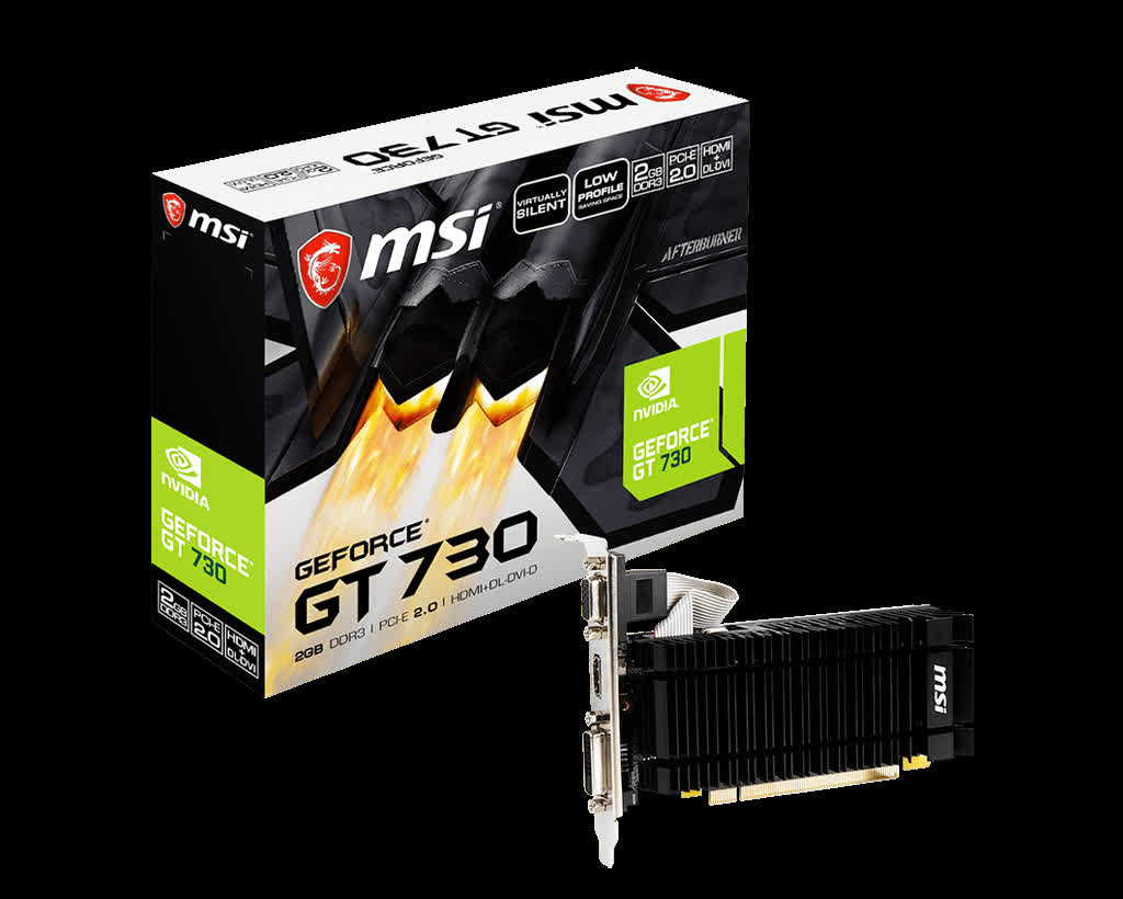 MSI brings back the GeForce GT 730 amid graphics card shortages