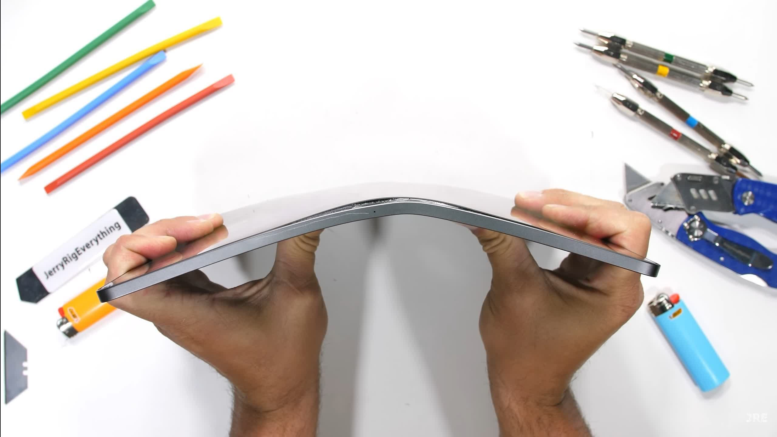 Apple's M1-powered iPad Pro handles burns, scratches, and bends quite well