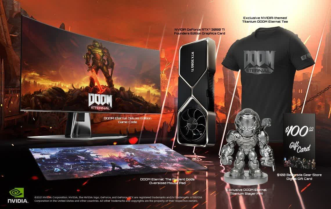 Nvidia and Bethesda launch $1,450 Doom Eternal bundle that includes an RTX 3080 Ti
