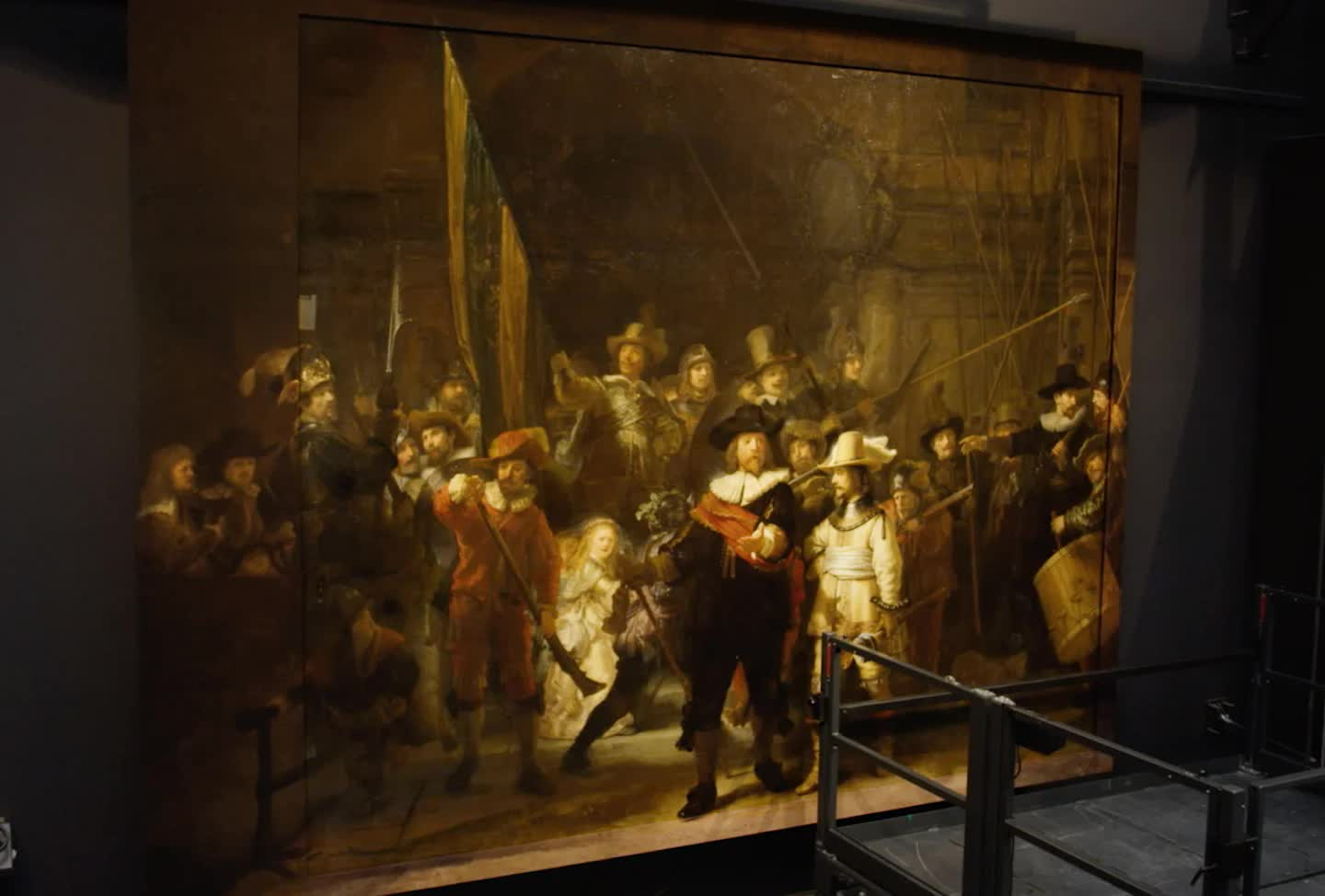 Rembrandt's 'The Night Watch' painting has been restored to its original size thanks to AI