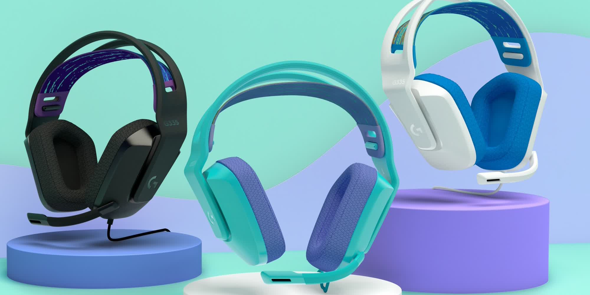 Logitech's G335 is a colorful, wired (and more affordable) version of the G733